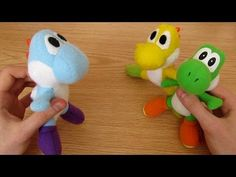 Make your own Yoshi Plush, via YouTube.