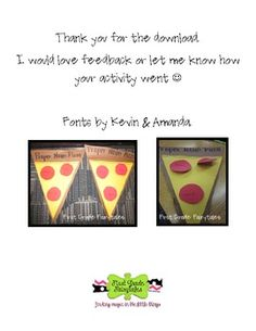 Proper Noun Pizza: TPT freebie