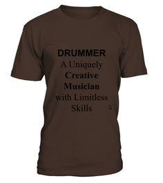 Drummer Musician T shirt T Shirts  #gift #idea #shirt #image #music #guitar #sing #art #mugs
