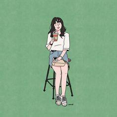Keterangan foto tidak tersedia. Cute Art Styles, Cartoon Art Styles, Cute Illustration, Character Illustration, Aesthetic Anime, Aesthetic Art, Cute Couple Art, Korean Art, Art Challenge