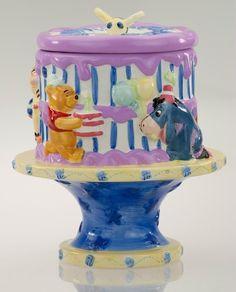 Winnie the Pooh Birthday Cake Cookie Jar