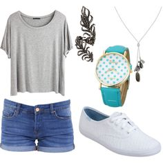 casual summer inspired outfit by crazylolo2001 on Polyvore featuring polyvore fashion style Chicnova Fashion BLANKNYC Keds Elise Dray Banana Republic