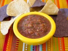 Make this no spicy, but full flavor, salsa for your kids to dip their favorite chips in or top their freshly made fish tacos!