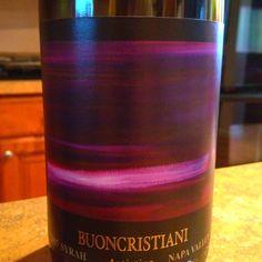 2007 Buoncristiani Syrah #wine #Napa
