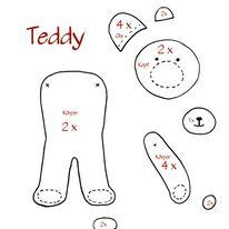 Schablone Teddy