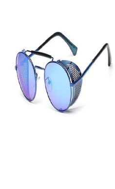 05a1e8a65c Oh how I covet these blue steampunk sunglasses!