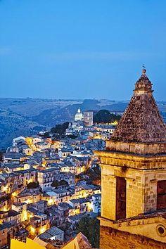 View from Santa Maria delle Scale towards Ragusa Ibla, Ragusa, Sicily, Italy #italiaciao