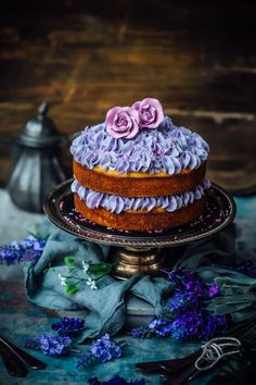 Lavender, Honey and Almond Cake