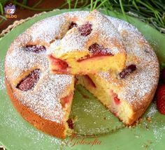 Torta soffice alle fragole e yogurt-ricetta torte-.golosofia Sweet Cooking, New Cooking, Italian Cake, Italian Desserts, Sweet Recipes, Cake Recipes, Dessert Recipes, Cooking Cake, Cooking Recipes