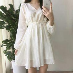 Cute Fashion, Asian Fashion, Look Fashion, Girl Fashion, Fashion Dresses, Spring Fashion, Fashion Ideas, Fashion Tips, Simple Dresses