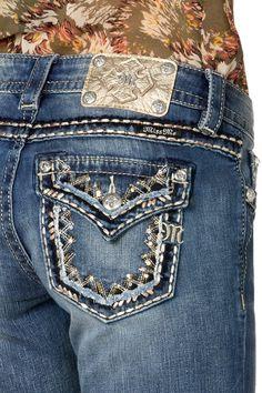 Miss Me Junior's Sparkle Blast Mid-Rise Bootcut Jeans