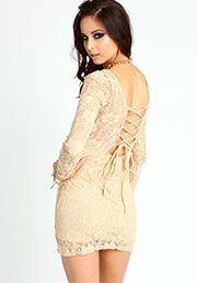 All Lace Up Dress:$23.90