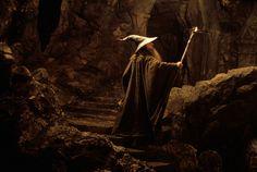 Gandalf leading the Fellowship through the mines of Moria