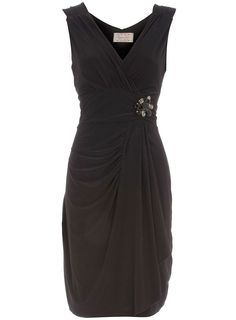 flattering drape, could add lots of color with jewelry, shoes or shawl.