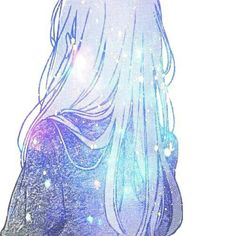 ღ galaxy anime ღ Manga Kawaii, Manga Anime, Anime Art, Kawaii Girl, Anime Galaxy, Galaxy Art, Fanarts Anime, Anime Characters, Pretty Art