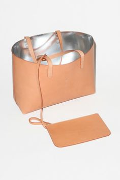 Mansur Gavriel Tote Lined, Cammello with Argento