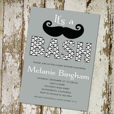 Baby boy shower invitation mustaches little man by katiedidesigns, $13.00