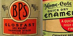 Vintage Packaging: Paint Supplies - The Dieline - The #1 Package Design Website -