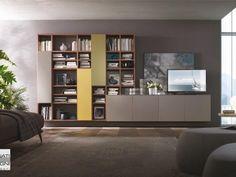 Living Room Tv, Home And Living, Exterior Design, Interior And Exterior, Bookcase, Ikea, Furniture Design, Shelves, House