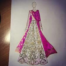 Fashion drawing sketches indian new ideas India Fashion, Fashion Art, Fashion Models, Ethnic Fashion, Fashion Bloggers, Trendy Fashion, Fashion Illustration Dresses, Fashion Illustrations, Wedding Dress Sketches