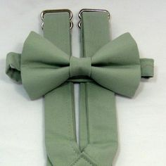 Meadow Green Suspenders and Bow Tie Set.  Bridal Color Meadow. Sizes Infant -Adult.  Free Fabric Sample Available.