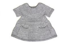 Adele Knitted Girl Dress Cloud Grey