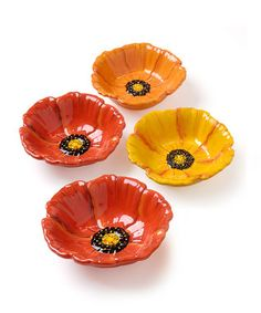 Poppy Dip Bowls