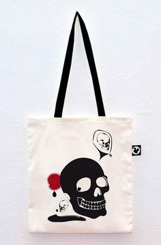 The 3 Skulls #totebag #screen #printed #serigrafia #bolso