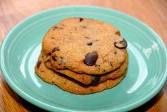 Healthy, Unprocessed Chocolate Chip Cookies (Dairy Free/Gluten Free)