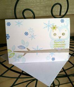 Winter Snowflake Owl Blank Note Cards Set of 10 | eBay