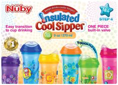 Nuby Insulated Cups. www.baby4seasons.com