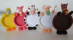Souvenirs Infantiles Animalitos De La Granja Con Foto Portar