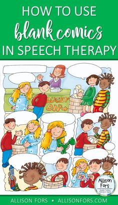 Blank comics are an engaging activity that are great for younger and older students alike and allow for a wide range of language skills to be targeted! Find how and free comic pages. - repinned by @PediaStaff – Please Visit ht.ly/63sNt for all our pediatric therapy pins