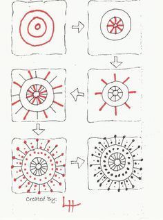 zentangle instructions step by step - Google Search