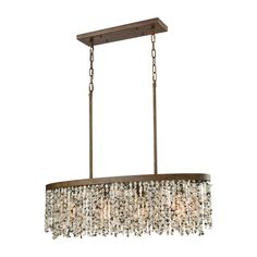 Agate Stones 4 Light Chandelier In Weathered Bronze With Gray Agate Stones 65306/4