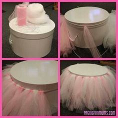 How to make a tulle cake stand cover