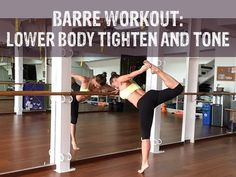 Exercise : Barre Workout Video - lower body tighten and tone Ballet Barre Workout, Barre Workout Video, Cardio Barre, Pilates Workout, Butt Workout, Workout Videos, Ballerina Workout, Pilates Abs, Workout Diet
