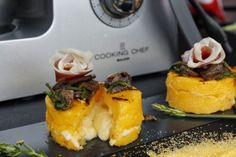 Le leccornie di Danita: Cilindri di polenta grigliati ripieni di fonduta