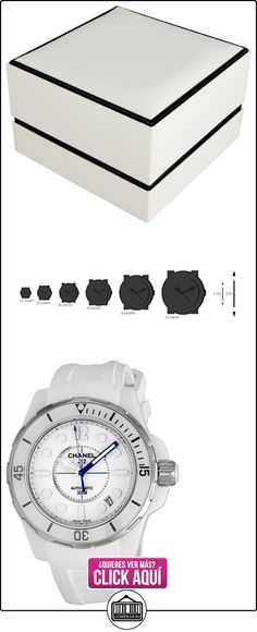 Chanel H2560 - Reloj de pulsera mujer, caucho, color blanco  ✿ Relojes para mujer - (Lujo) ✿ ▬► Ver oferta: https://comprar.io/goto/B0041M8DVQ