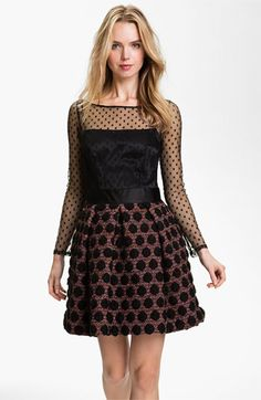 Love the mix of small and large circles. Milly 'Desiree' Fit & Flare Dress | Nordstrom