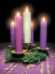 Advent candles (today we lit the 4th candle of love <3 )