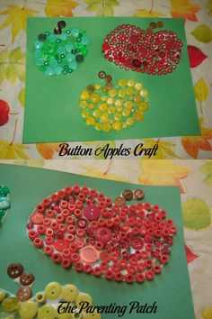 Button Apples Craft
