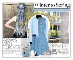 """Winter to Spring Layers"" by audry7 ❤ liked on Polyvore featuring BCBGMAXAZRIA, Thomsen Paris, Balenciaga, Yumi, Vans, Paul & Joe Sister, MAC Cosmetics, Blue and Wintertospring"