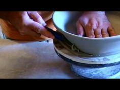 David Schlapobersky makes pottery oval dishes