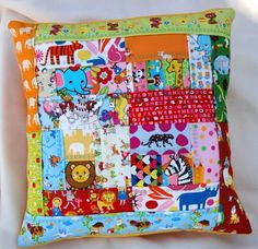 Patchwork pillow for kids or adults