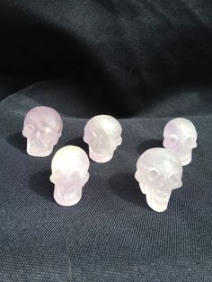 Amethyst skulls unpolished