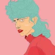 2nd version😊 #graphic #graphicdesign #illo #illustration #girl #funky #polishwoman #polishgirl #creative #projektowka #art🎨 #portrait #funny