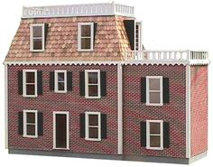 The Belmont, Another Affordable series dollhouse finished with Magic Brick