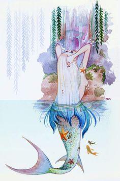Mermaid in watercolour