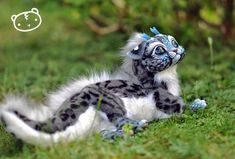 Ice Ocelot-Chibi Dragon Spirit by LisaToms.deviantart.com on @DeviantArt